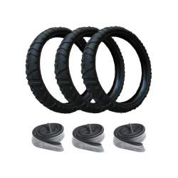 3 Reifen und 3 Schläuche...