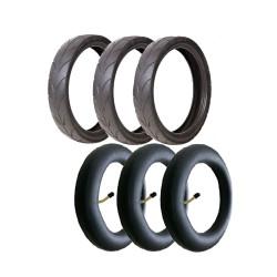 3 pneus e 3 câmaras de ar...
