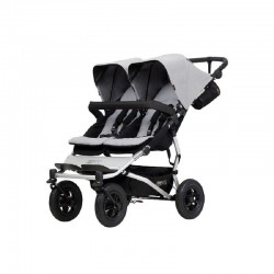 Poussette Double Mountain Buggy Duet v3 Silver
