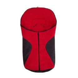 Schwarzer und roter Fußsack...