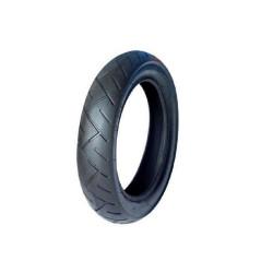 Neumático para High Trek equipado con ruedas de radios metálicos tipo bicicleta.